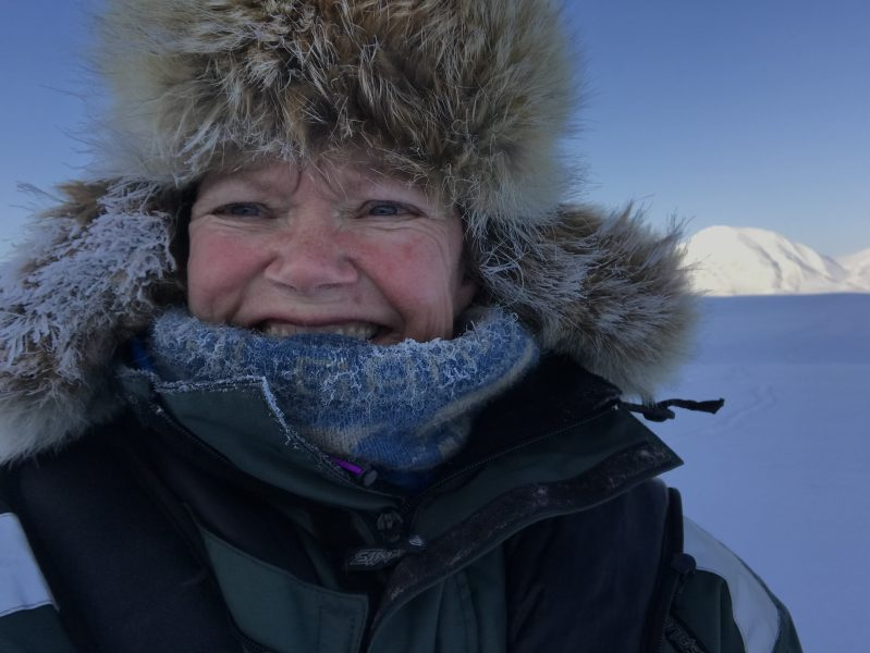 Female explorer Sunniva Sorby in the frozen Arctic
